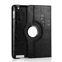 Чехол Smart-cover для Apple iPad mini 1,2,3, кожа, вращающийся, вырез.узор, черный