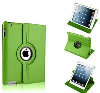 Чехол Smart-cover для Apple iPad mini 1,2,3, кожа, вращающийся, зеленый