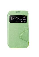 Чехол-книжка на Samsung S3 кожа, с окном, зеленый