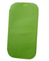 Чехол-книжка на Samsung S3 кожа, зеленый