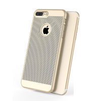 Чехол-накладка на Apple iPhone 6/6S Plus, пластик, перфор., золотистый