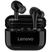 Гарнитура беспроводная, TWS Lenovo LP1S, Bluetooth 5.0, Type-C, 40/250Mah, вакуумная, черный