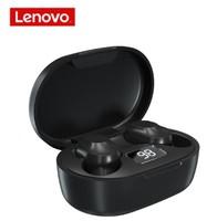 Гарнитура беспроводная, TWS Lenovo XT91, Bluetooth 5.0, Type-C, 40/300Mah, LCD, вакуумная, черный