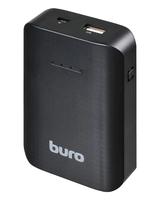 Портативный аккумулятор PowerBank 7500mAh, Buro RC-7500, 1xUSB, черный