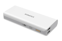 Портативный аккумулятор PowerBank 10000mAh, Romoss Solo 5, 2хUSB, белый
