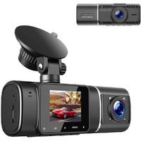 """Видеорегистратор с салонной камерой TDS OT-CVR03(TS-CAR08), FHD, 1.5"""", инфр. подсветка, черный"""