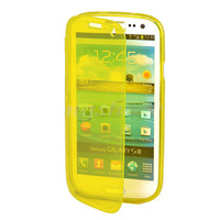 Чехол-книжка на Samsung S3 силикон, желтый