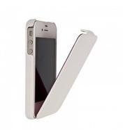Флип-кейс на Apple iPhone 5/5S, кожа, Fashion, белый