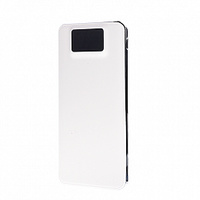 Портативный аккумулятор PowerBank 12000mAh, Noname, USB, LCD, белый