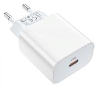 Сетевое зарядное устройство Type-C, Borofone BA38A, 3A, 1xType-C, PD, QC3.0, белый