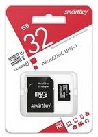 Карта памяти MicroSDHC 32GB Smart Buy, Class 10 (с SD адаптером) COMPACT