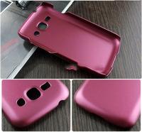 Чехол-накладка на Samsung Ace3 пластик, бордовый