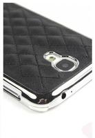 Чехол-накладка на Samsung S4 пластик, кожа, сетка, черный