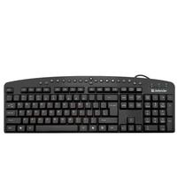 Клавиатура проводная Defender ATLAS HB-450, USB, полноразмерная, мультимедиа, черный