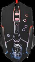 Мышь проводная, игровая, Defender Killer GM-170L, 7 кн., 3200dpi, подсветка