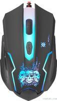 Мышь проводная, игровая, Defender Skull GM-180L, 6 кн., 3200dpi, подсветка