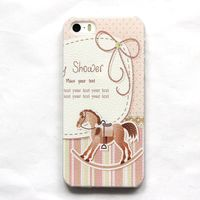 Чехол-накладка на Apple iPhone 5/5S, пластик, horse