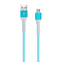Кабель для iPhone 8pin, Smartbuy iK-512FL, TPE оплетка, синий, 1м