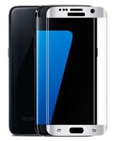 Защитное стекло Samsung Galaxy S6 Edge на дисплей, 3D, с рамкой, белый