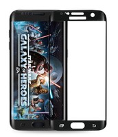 Защитное стекло Samsung Galaxy S6 Edge на дисплей, 3D, с рамкой, черный