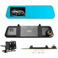 """Видеорегистратор зеркало с камерой заднего вида TDS TS-CAR12, FHD, 4.3"""""""