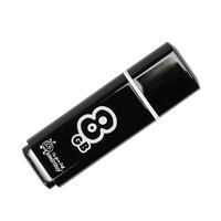 Память USB 2.0 Flash, 8GB, Smart Buy Glossy series Black