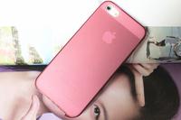 Чехол-накладка на Apple iPhone 5/5S, силикон, матовый, розовый