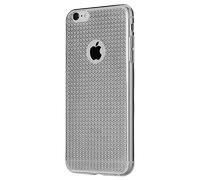 Чехол-накладка на Apple iPhone 6/6S, силикон, блестящий, кристаллы, черный