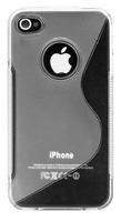 Чехол-накладка на Apple iPhone 4/4S, силикон, S-line, серый