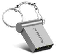 Память USB 2.0 Flash, 16GB, MicroDrive, мини, серебристый
