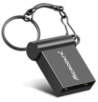 Память USB 2.0 Flash, 16GB, MicroDrive, мини, черный