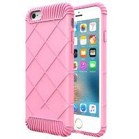 Чехол-накладка на Apple iPhone 6/6S, силикон, rubber, матовый, розовый
