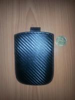 Чехол карман, кожа, карбон, 11см*7,5см, черный