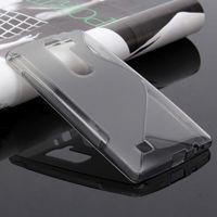 Чехол-накладка LG Magna / G4c / G4 mini, силикон, S-line, прозрачный, серый