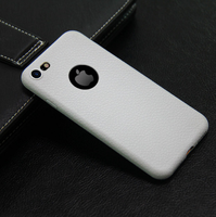 Чехол-накладка на Apple iPhone 7/8/SE2, силикон, под кожу, с вырезом, белый