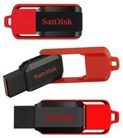 Память USB 2.0 Flash, 8GB, SanDisk CZ52 Cruzer Switch