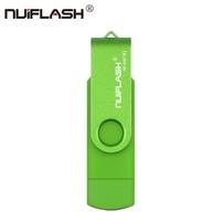 Память USB 2.0 Flash, 32GB, Nuiflash, OTG microUSB, зеленый