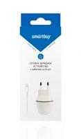 Сетевое зарядное устройство USB, SmartBuy, 2.1А, 1xUSB, + кабель lighting  (SBP-1005-8)