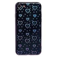 Чехол-накладка на Apple iPhone 7/8/SE2, силикон, голограмма, сердца, черный