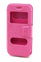 """Чехол-книжка универсальная, силик.бампер, S-view 4.5"""", розовый"""