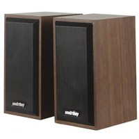 Активные колонки 2.0, Smart Buy ONE (SBA-101), 2x3W, дерево, коричневый