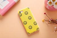 Чехол-накладка на Apple iPhone 6/6S, силикон, smile, желтый