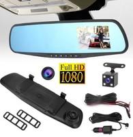 """Видеорегистратор зеркало с камерой заднего вида Geartronics, FHD, 5.0"""""""