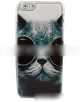 Чехол-накладка на Apple iPhone 6/6S, пластик, happy cat
