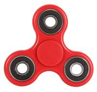 Спиннер, 3 спиц, 4 подш., металл, 7.5*7.5 см, красный, черный