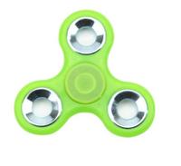 Спиннер, 3 спиц, 1 подш., металл, 7.5*7.5 см, фосфорный, зеленый яркий