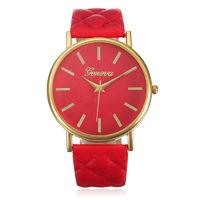 Часы наручные Geneva, ц.красный, р.красный, кожа Д02448