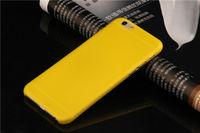 Чехол-накладка на Apple iPhone 6/6S, пластик, матовый, желтый