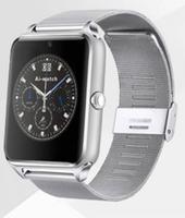 Смарт-часы GT08, microSim, 240*240 TFT, BT, 0,3Mp cam, microSD, железный ремешок, серебристый