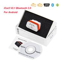 Диагностический сканер ELM327 OBD2 v.2.1, Bluetooth, Vgate Icar2, с кнопкой, bimmercode, Box